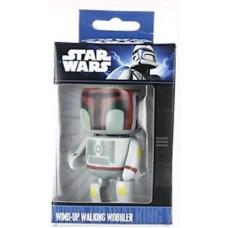 Official Star Wars Wind-Up Walking Wobbler Boba Fett Mini Figure Character Toy