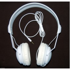 Xqisit Over the Air 1285 On Ear Classic Stereo Headphones White