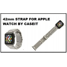 Stainless Steel / Silver Apple Watch Strap 42mm with Adjustable Wrist by CASEIT