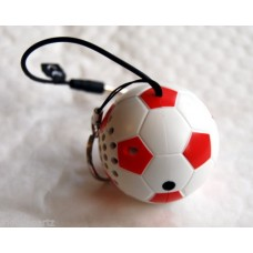 Kit Sound Mini Buddy Red Wired Portable Football Speaker for iPhone iPad Phones