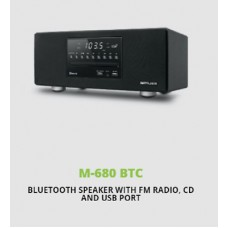 Muse M-680 BTC Mains Stereo Bluetooth Speaker FM Radio MP3 USB AUX CD 40W