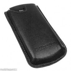 Genuine Blackberry Black Leather Case Pocket Pouch for Pearl 8100 8110 8120 8130