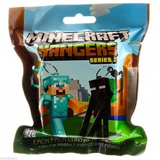 "Minecraft Hangers 3"" Figure Toy with Keychain & Series 2 (Random Pack Supplied)"