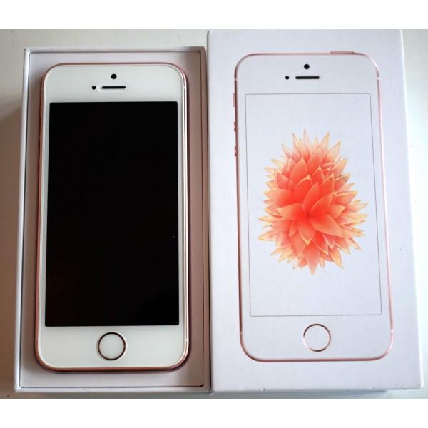 Lækker Apple iPhone SE 32GB Smartphone Unlocked Rose Gold & Space FV-78
