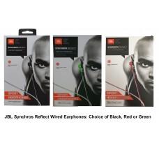 JBL by Harman Synchros Reflect Wired In Ear Sport Headphones Black or Green
