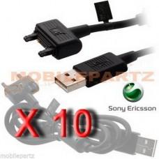10 x Sony Ericsson DCU-65 USB Data Cable for Elm Satio K610i K800i K810i W995i