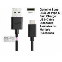 Genuine Sony UCB20 USB Type-C Fast Charge Data Cable for Latest Xperia Mobiles