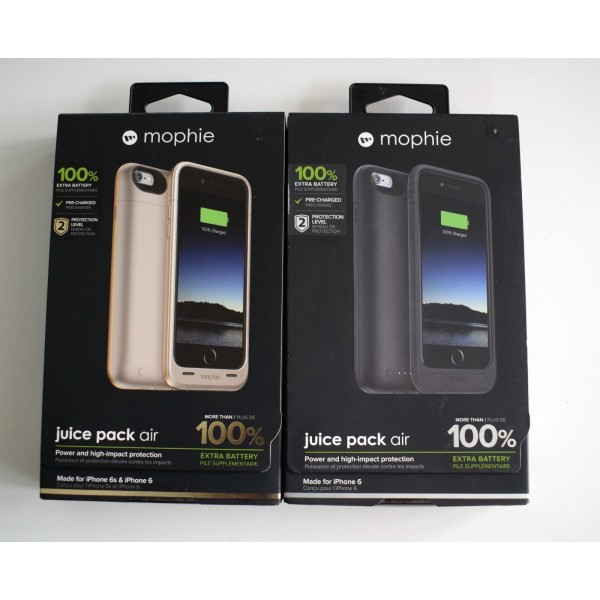 buy online aa3eb 1ae82 Mophie Juice Pack Air Case & Battery Power Pack for iPhone 6 / 6S Black or  Gold