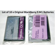 10 x Genuine Original Blackberry F-M1 FM1 Battery for Pearl 9100 9105 9670 Style
