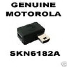 2 x MOTOROLA RIGHT ANGLED 90 DEGREE MINI USB ADAPTORS - SKN6128A