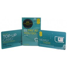 EE (UK) Network Pre-Pay / Pay as You Go Unregistered Triple Standard / Micro SIM / Nano Sim Card £10 Everything Bundle