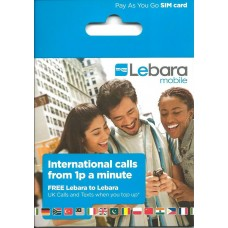 Lebara Network (UK) Pre-Pay / Pay as You Go Unregistered Triple SIM Card - Cheap Int'l Calls