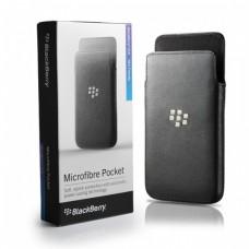Genuine BlackBerry Z10 Grey Microfibre Case Cover / Pocket Pouch ACC-49282-201