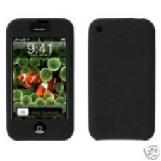 Black Silicone Skin Case Cover for the Original Apple iPhone 2G