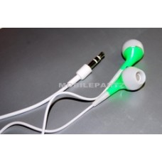 White/Green 3.5mm In Ear Headphones for Apple iPods & MP3 Player
