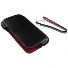 Genuine Nokia E71 E72 Dark Brown Leather Slip Pouch Case CP-277