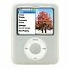 White Silicone Skin Case Cover for Apple iPod Nano 3G - 4 & 8gb