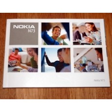 Nokia N73 Mobile Phone User Guide / Manual / Booklet