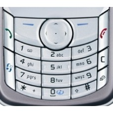 Genuine Nokia 6680 6681 Silver Replacement Keypad Buttons Keymat
