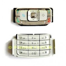 Genuine Nokia N95 Silver Replacement Keypad Buttons Keymat