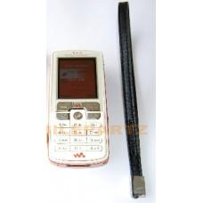 Genuine Black Leather Sony Ericsson Carry / Wrist Strap