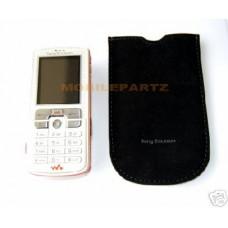 Genuine Sony Ericsson Black Suede Pouch / Case for W880i W890i