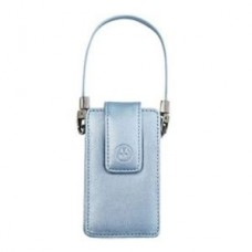 Genuine Motorola V3 / V3i Silver Leather Case / Pouch with Strap