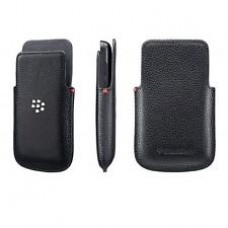 Genuine Blackberry Q5 Black Leather Pocket Pouch / Case HDW-55522-001